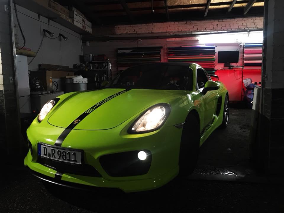 Porsche Cayman Vollfolierung